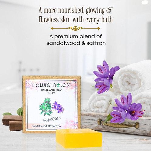 Nature Notes- Sandalwood 'N Saffron Soap-100 gm