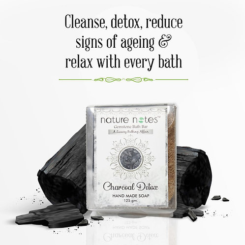 Nature Notes-Gemstone Bar-Charcoal Detox-125 gm
