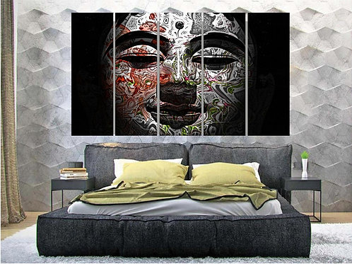 Multi Frame Wall Panel- Buddha Abstract