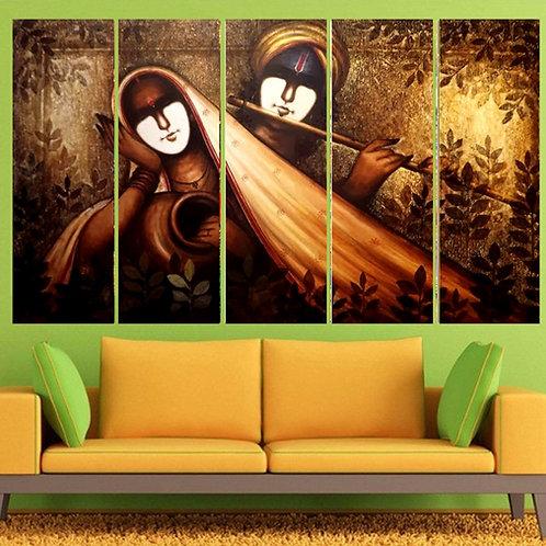 Multi Frame Wall Panel- Radha Krishan Abstract1
