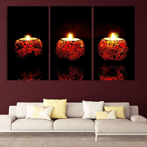 Multi Frame Wall Panel-Syncing Lights