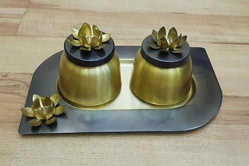 Brass Designer Jar Set