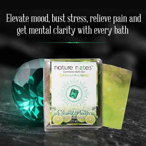 Nature Notes-Gemstone Bath Bar-Emerald Touch-125gm