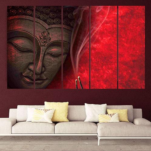 Multi Frame Wall Panel- Buddha-Incense
