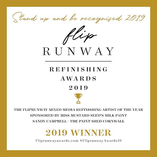 Sandy Campbell Flip Runway Award winner