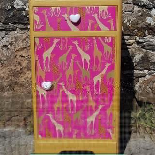 Decoupaged Cabinet