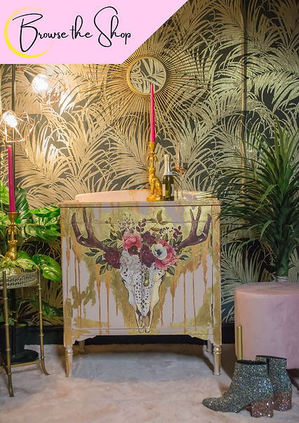 painted redesigned upcycled drinks cabinet by Feral Furniture Designs Cornwall