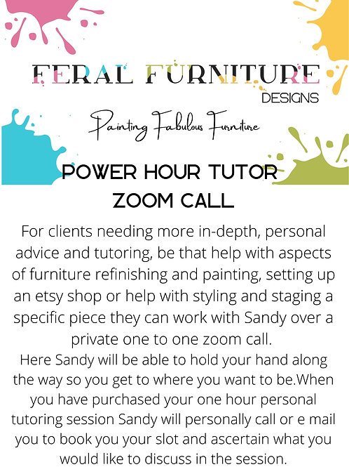 Private Power Hour Tutoring Session - Zoom Call
