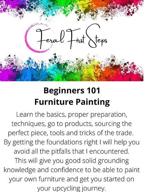 BEGINNERS 101 FURNITURE PAINTING