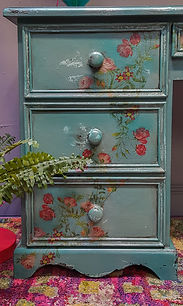 Feral Furniture Designs Cornwall Painted drawers Bespoke furniture painting service Cornwall UK furniture painter upcycler redesigner commission painter kitchen cabinet painter refinisher restorer