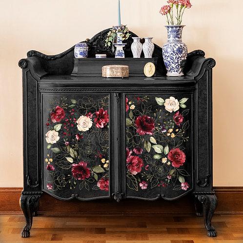 Midnight Floral Furniture Decor Transfer Re Design by Prima