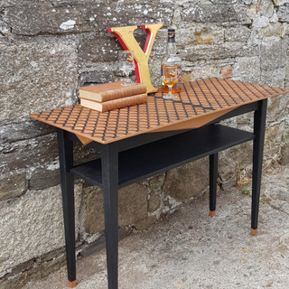 Copper Metallic and Coal Black Occassional Table