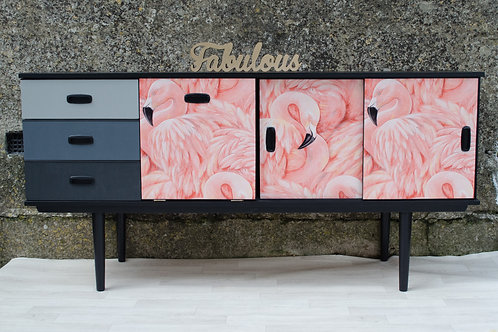 Mid Century Flamingo Sideboard