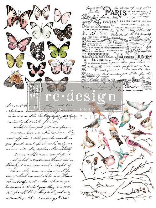 Parisian Butterflies Decor Transfer by Re Design Prima