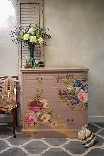 1 Damask Pink painted drawers by Bespoke furniture painting service Cornwall UK furniture painter upcycler redesigner commission painter kitchen cabinet painter refinisher restorer