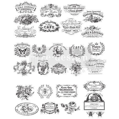 Classic Vintage Labels Furniture Decor Transfer Re Design by Prima