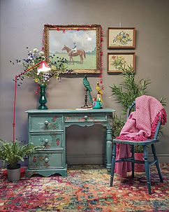 Feral Furniture Designs Cornwall Painted Bespoke furniture painting service Cornwall UK furniture painter upcycler redesigner commission painter kitchen cabinet painter refinisher restorer
