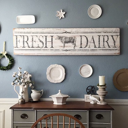 Fresh Dairy Iron Orchid Design Furniture Decor Transfer