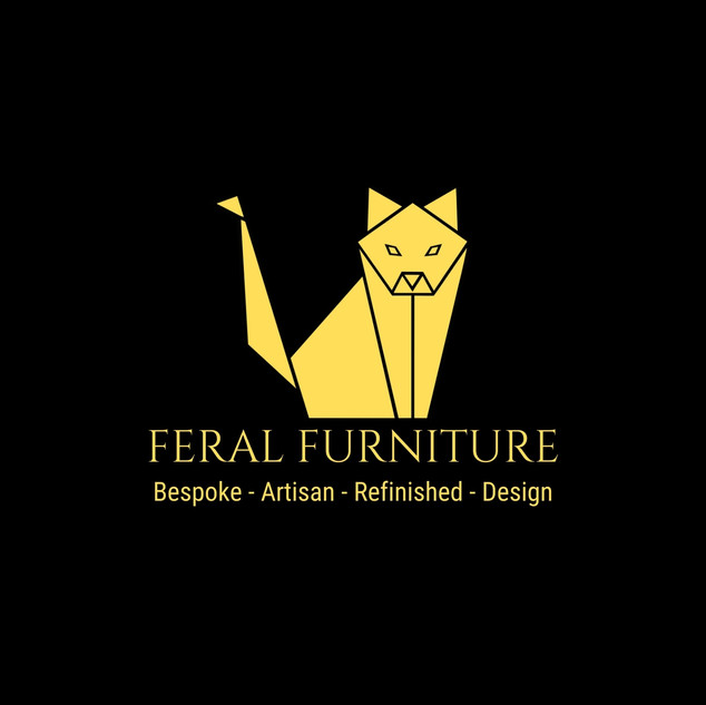 FERAL FURNITURE  Large yellow cat Black