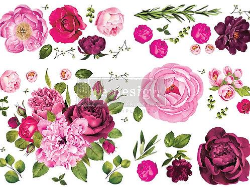 Lush Floral 1 Decor Transfer by Re Design Prima