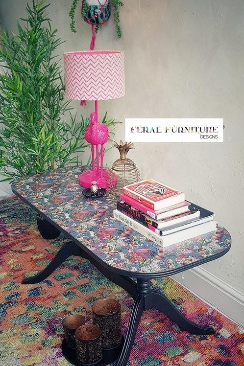 Florence Decoupaged Coffee Table