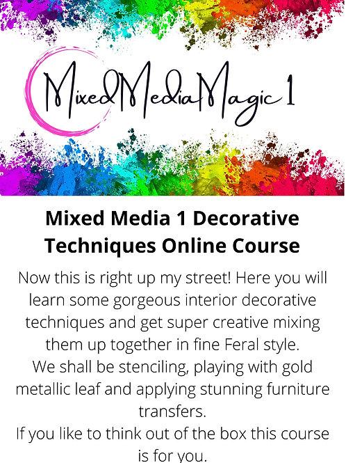 Mixed Media Magic 1 Interior Decorative Techniques
