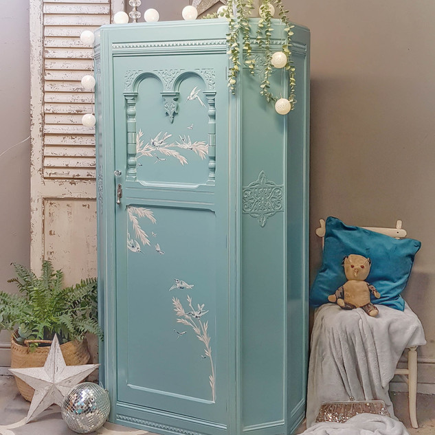 Decoupaged wardrobe by Feral Furniture D