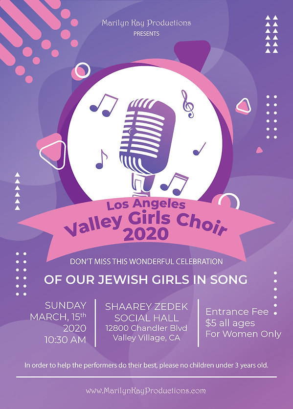 Los Angeles Valley Girls Choir 2020 Flye
