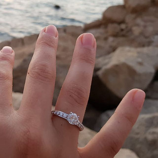 Engagement ring designed and made for a