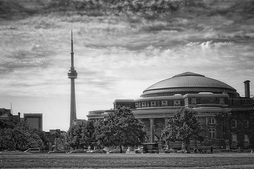 """CN Tower/Convocation Hall - 11"""" X 14""""Matted Print"""