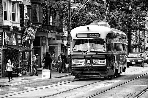 "Vintage Streetcar - 11"" x 14"" Matted Print"