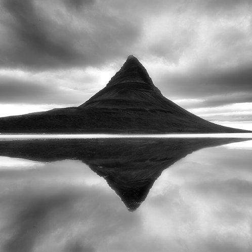 "Kirkjufell Mountain - 11"" x 14"" Matted Print"