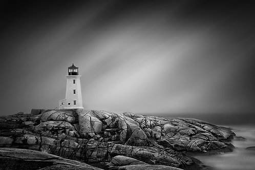 """Peggy's Cove Lighthouse - 11"""" x 14""""Matted Print"""