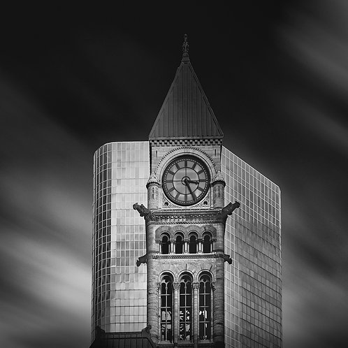 "Old City Hall Tower -  11"" x 14"" Matted Print"