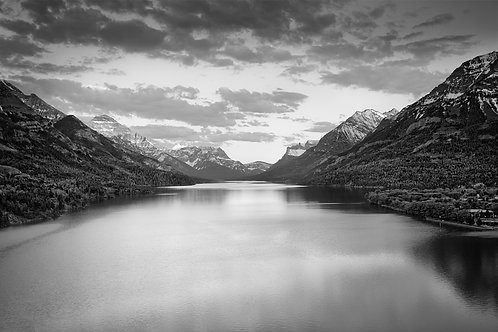 "Waterton Lake Sunset - 11"" x `14"" Matted Print"