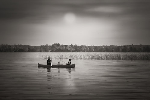 "Morning FishingTrip - 11"" x 14"" Matted Print"