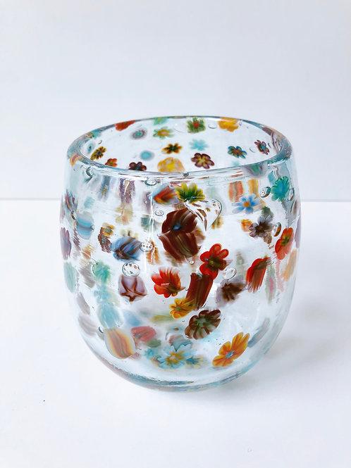 Handblown Millefiori Vase
