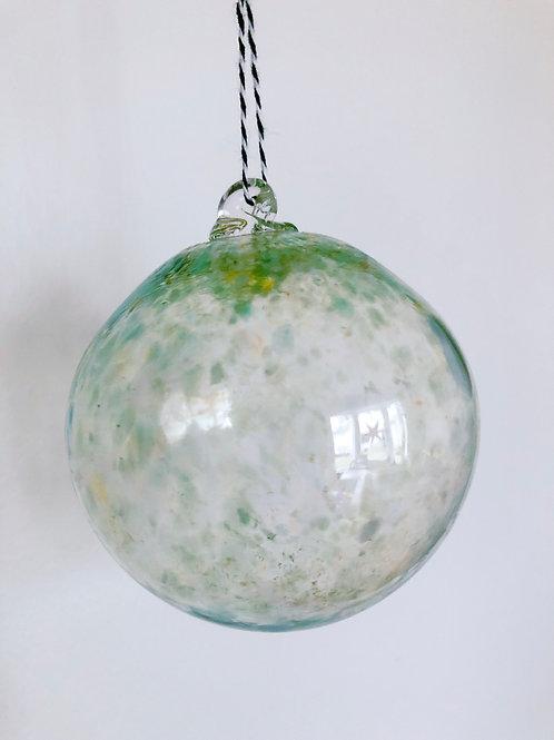Handblown Glass Ornament/ green