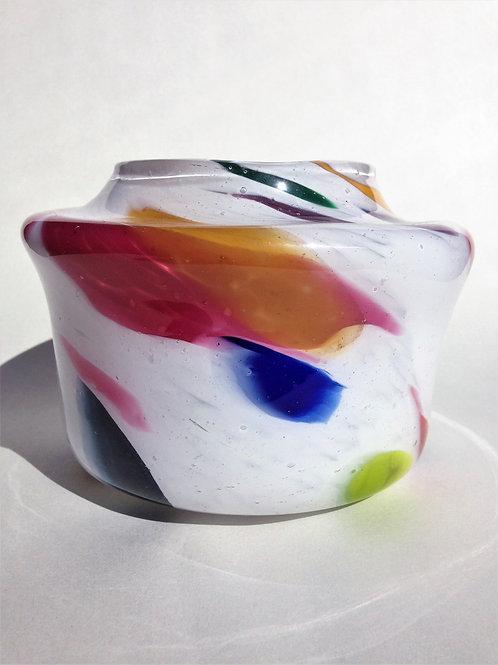 Handblown Vase/ fat chunk