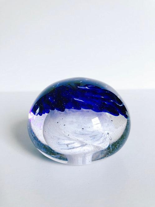 Dragon Egg/ cobalt blue and white