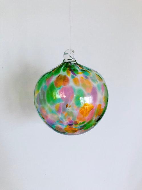 Handblown Glass Ornament/ green multi