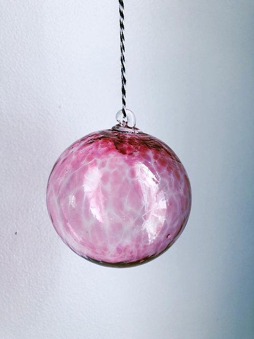 Handblown Glass Ornament/ pink