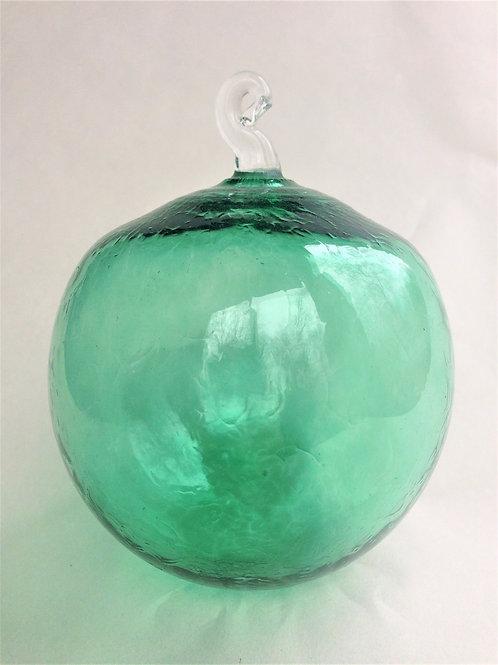 Green Handblown Glass Orb