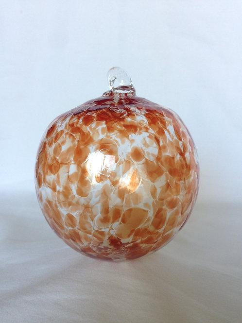 Red Handblown Glass Orb