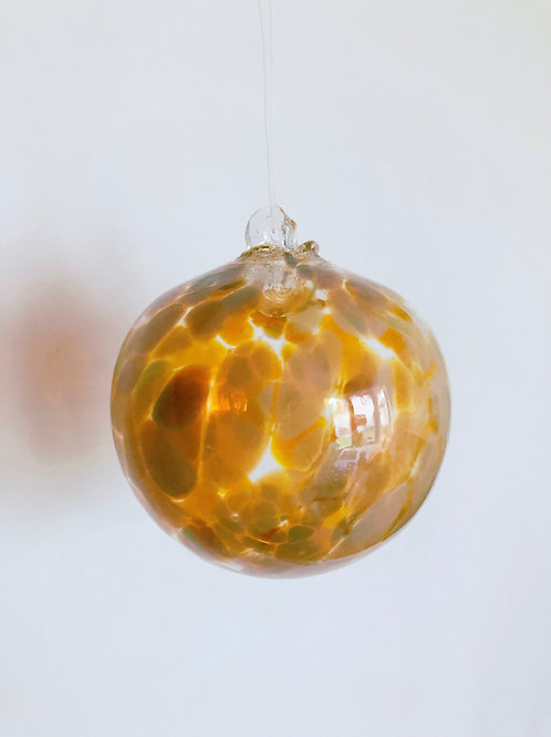 Handblown Glass Ornament/ tan