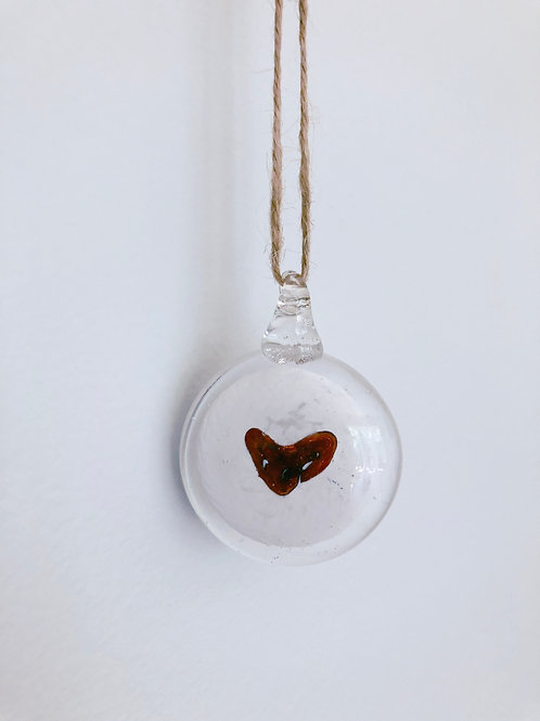 Glass Pendant w/ Heart