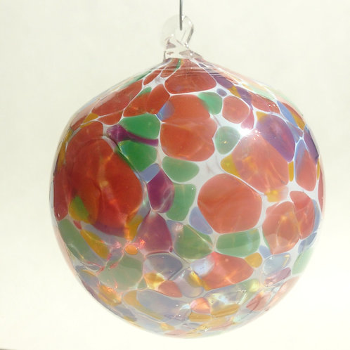 Pink Multi Handblown Glass Orb