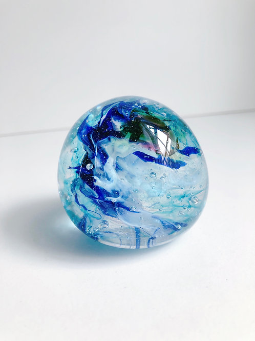Dragon Egg/ wht, blue and aqua