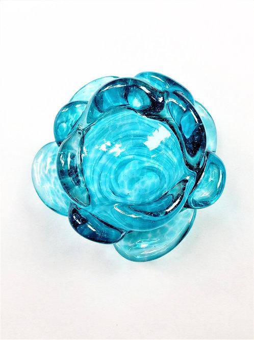 Aqua Glass Flower