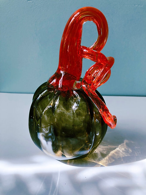 Handblown Glass Pumpkin